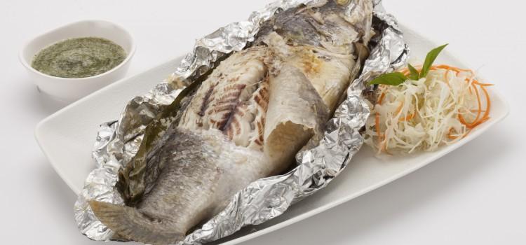 ปลากะพงเผาเกลือ